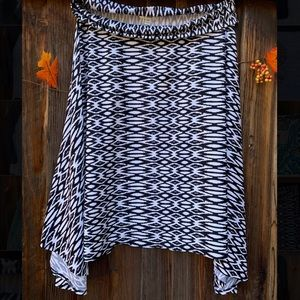 John Paul Richard fold over waistband skirt